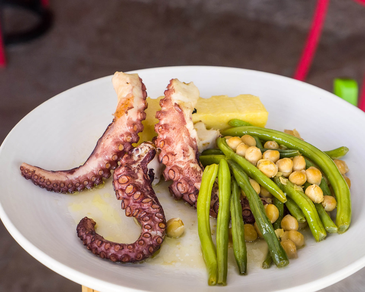 Octopus Menu Photography